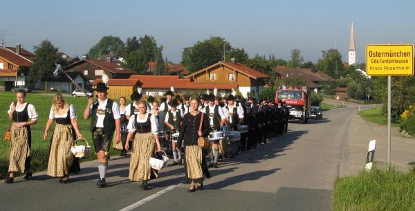 Fussmarsch 125 Jahre FF Lampferding